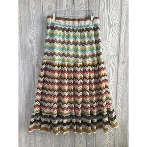 Anthropologie Lapis Boho Embroidered Maxi Skirt L